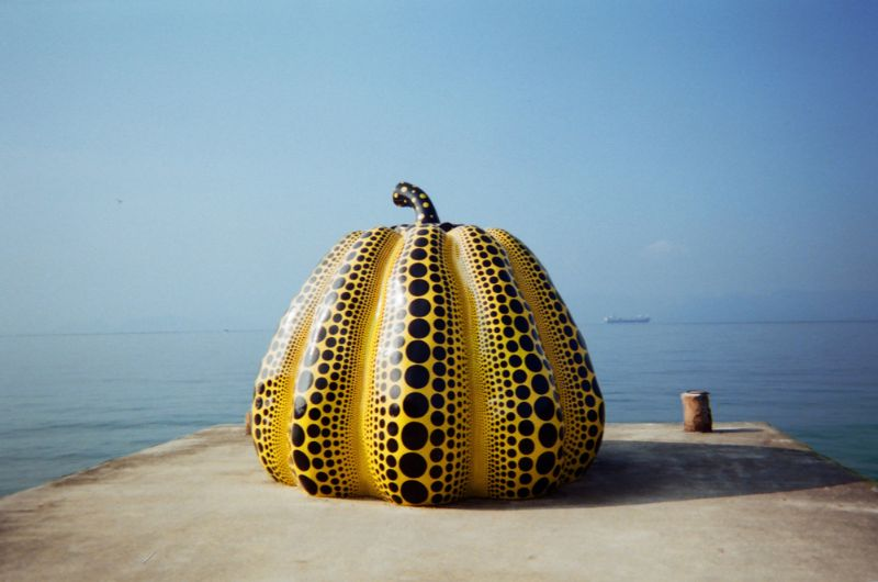 Giant pumpkin on Naoshima Island.