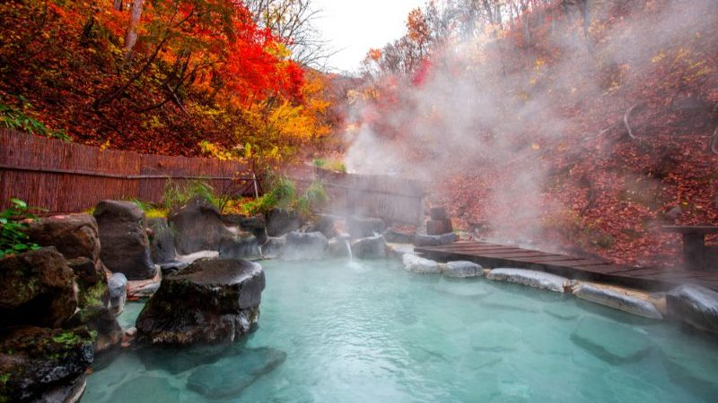 An onsen in Japan