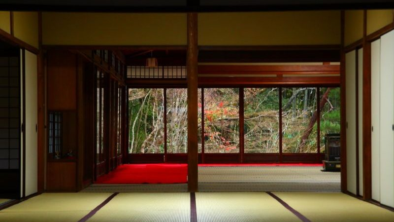 Interior of a ryokan in Japan