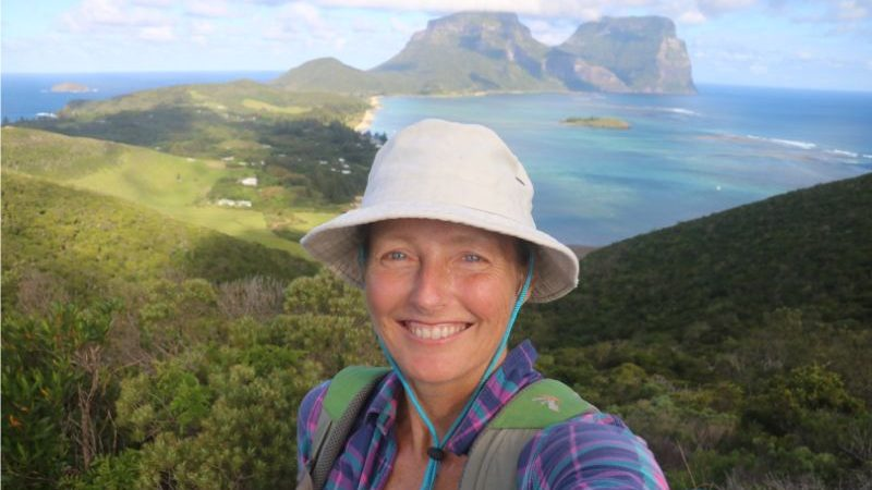 A smiling woman on Lord Howe Island.