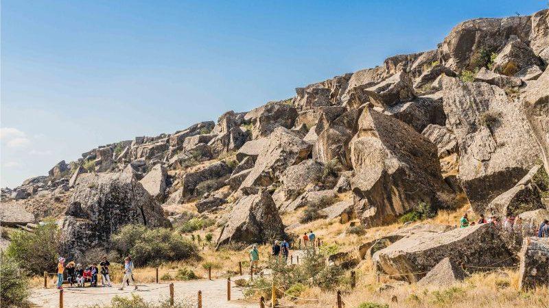 A rocky outcrop in Azerbaijan