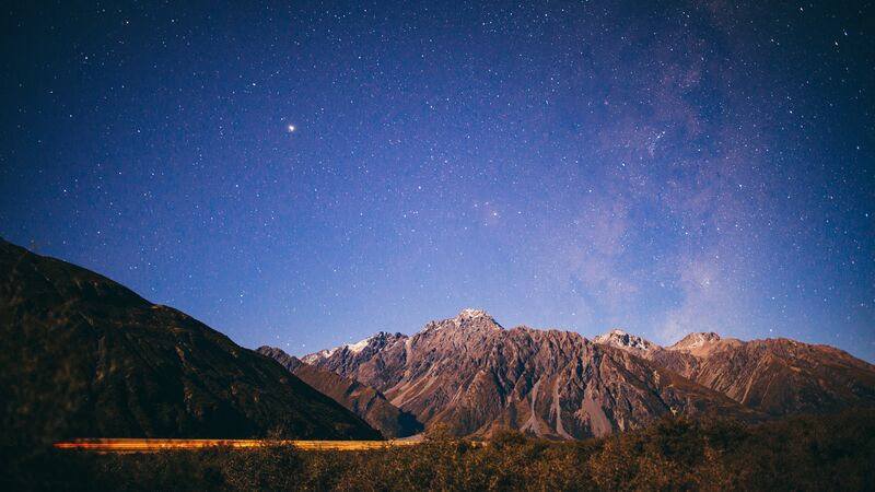 Night sky above New Zealand.