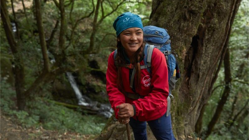 A tour leader on the Annapurna Base Camp trail in Nepal
