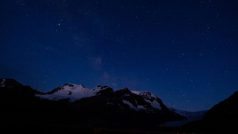 Dark sky above Jasper National Park
