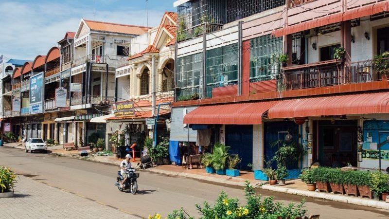 A quiet street in Cambodia