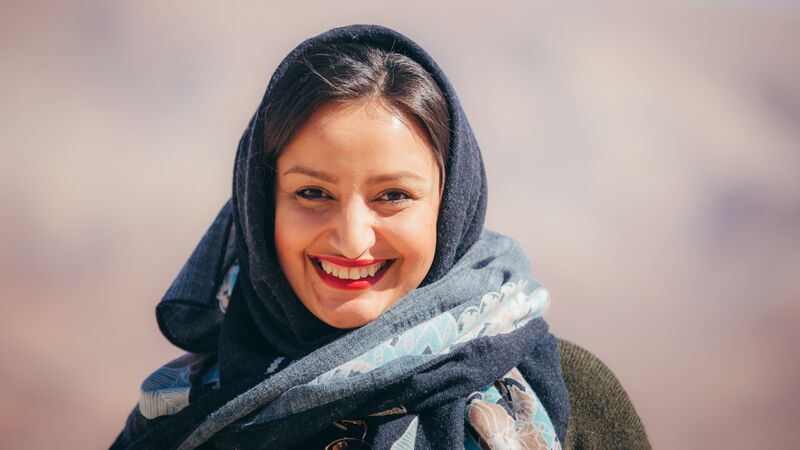 A young woman in Iran.