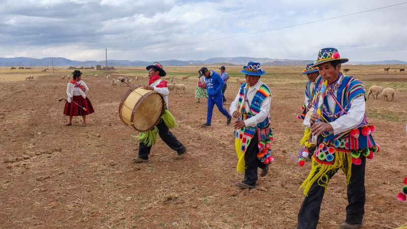 A group of musicians in Peru.
