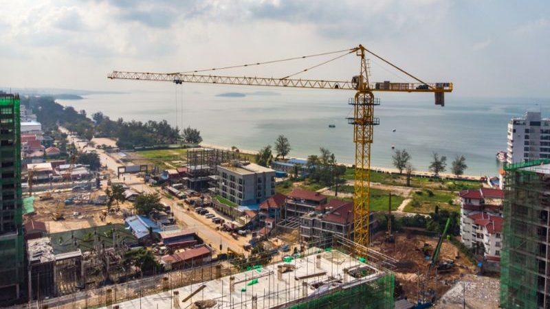 A construction site in Sihanoukville, Cambodia.