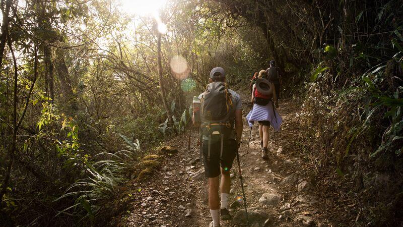 Trekkers on the Choquequirao trail