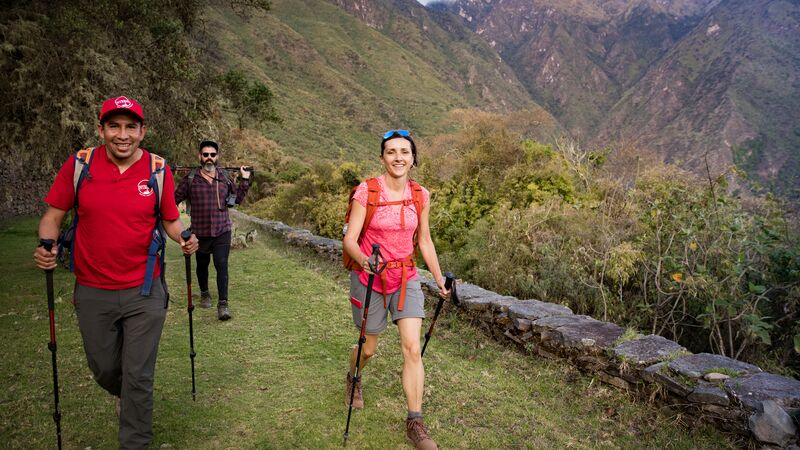 A woman on the Choquequirao trail