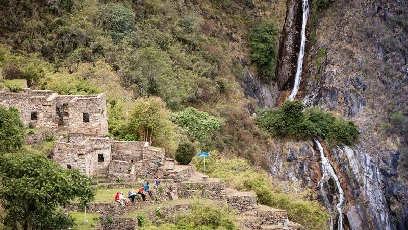 Inca ruins on the Choquequiraro Trail in Peru