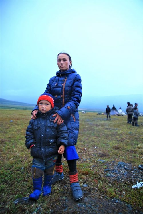 A mother and child on the Yamal Peninsula