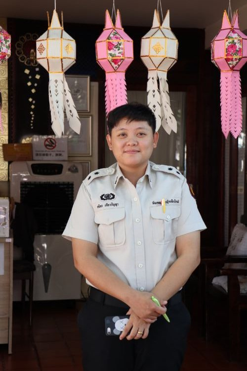 A guard in a women's prison in Chiang Mai