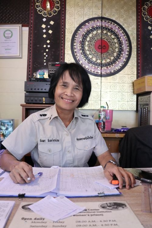 A prison guard in Chiang Mai, Thailand