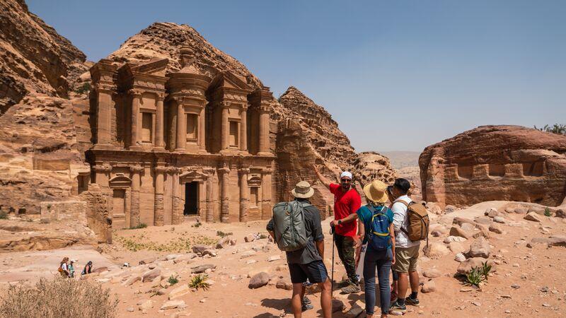 The Monastery of Petra in Jordan