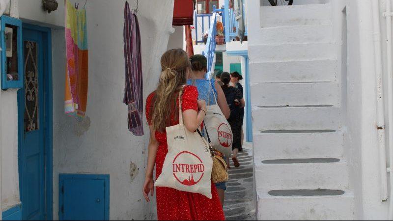 Travellers in Mykonos