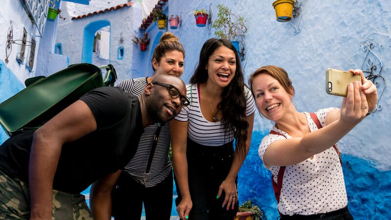 Travellers in Chefchaouen