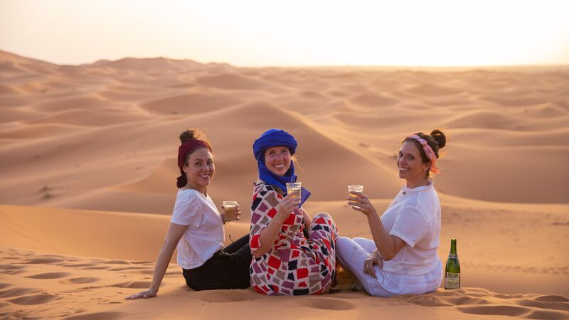 Travellers in the Sahara