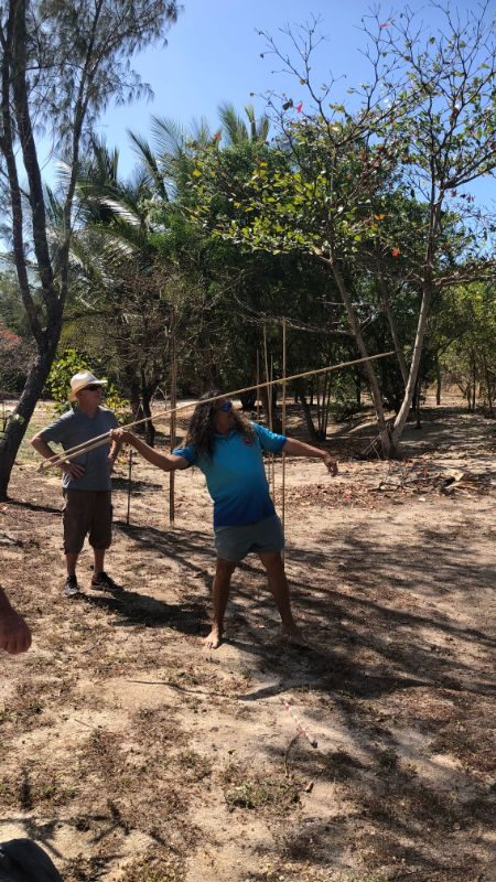 Learning to throw a spear, with Linc, a local Kuku Yalanji man.