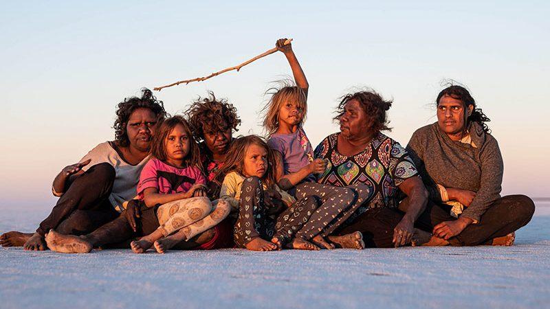 Yalti & Yukultji with family. Pintupi country.