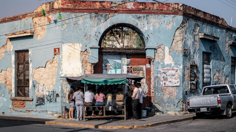 Street eatery in Mexico
