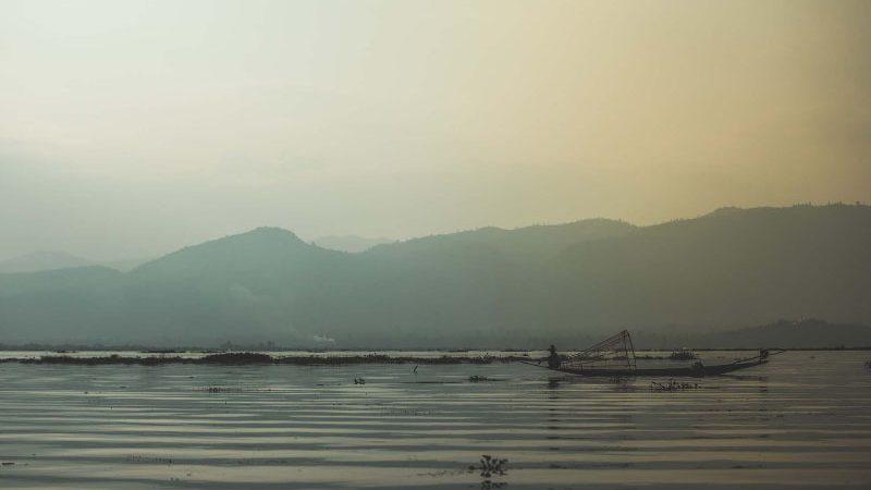 Island fishing village in Myanmar