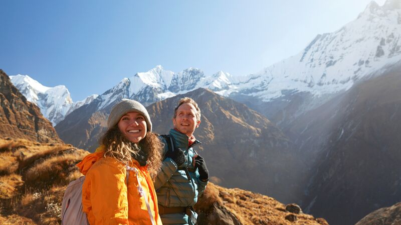 Travellers on the Annapurna Circuit