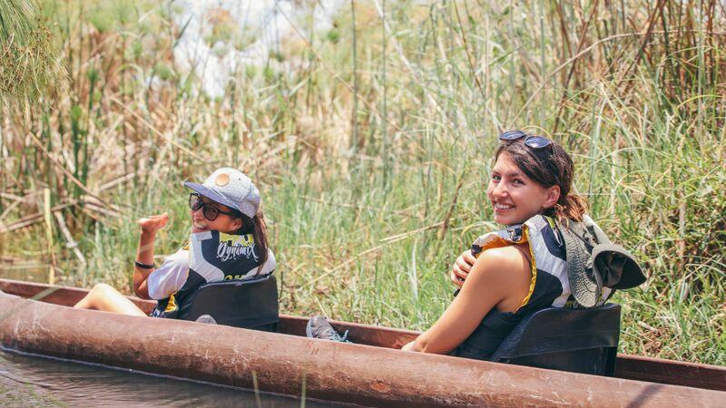 Travellers in the Okavango Delta