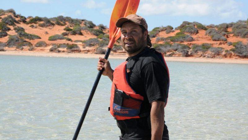 """Malgana guide Darren """"Capes"""" Capewell in WA."""
