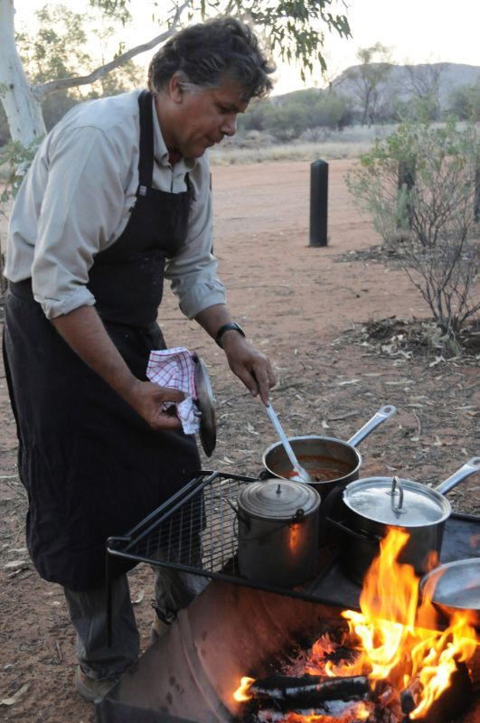 A bush BBQ in central Northern Territory.