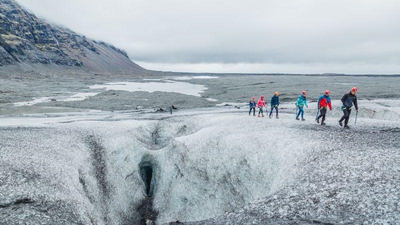 Visiting Jökulsárlón Glacier.