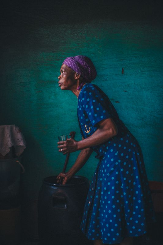 A villager in the highlands of Lesotho.