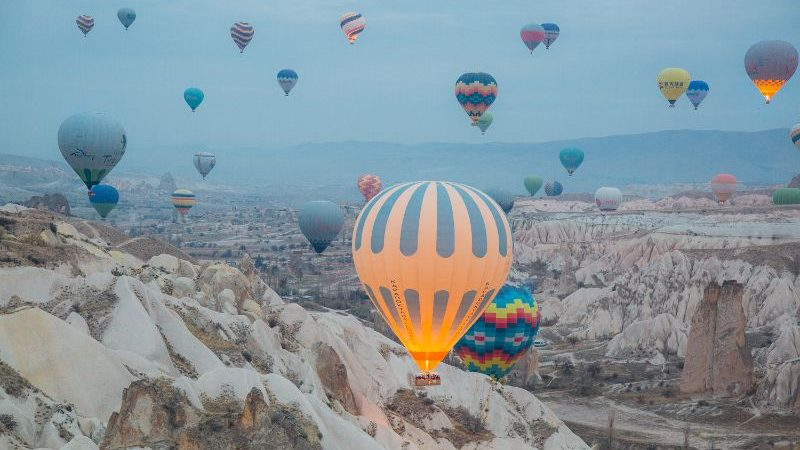 Cappadocia, Turkey - at sunrise.