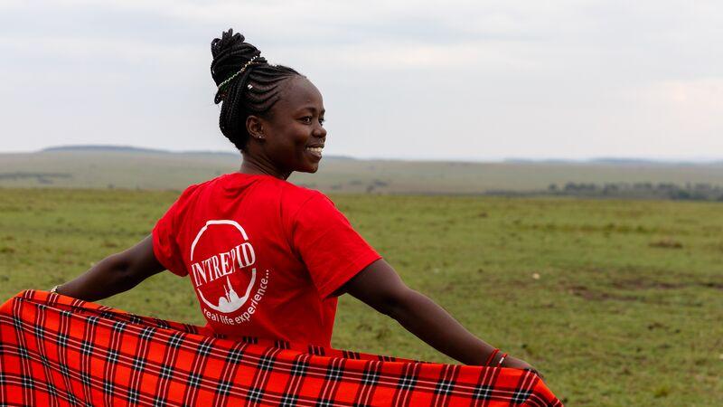 Female Intrepid leader in Kenya