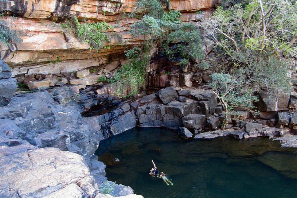 Swim in a waterhole