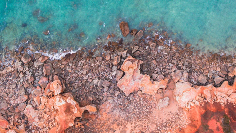 rocky shoreline in Australia