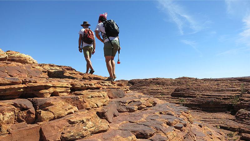Hikers at Kings Canyon