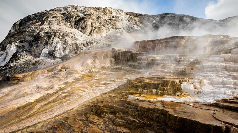 Mammoth Terraces in Yellowstone National Park