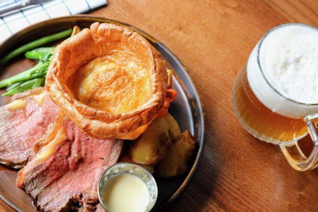 A Sunday roast dinner from Brewhemia in Edinburgh