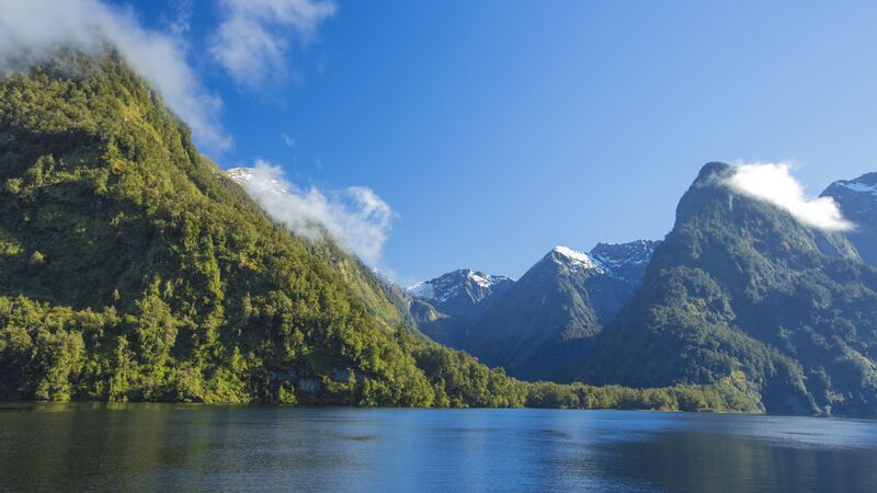 Doubtful Sound on the South Island of New Zealand.