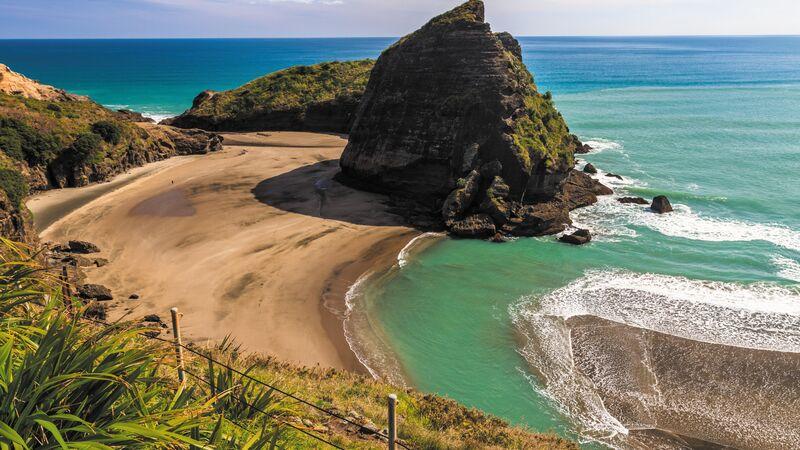 Piha Beach on the North Islandof New Zealand.