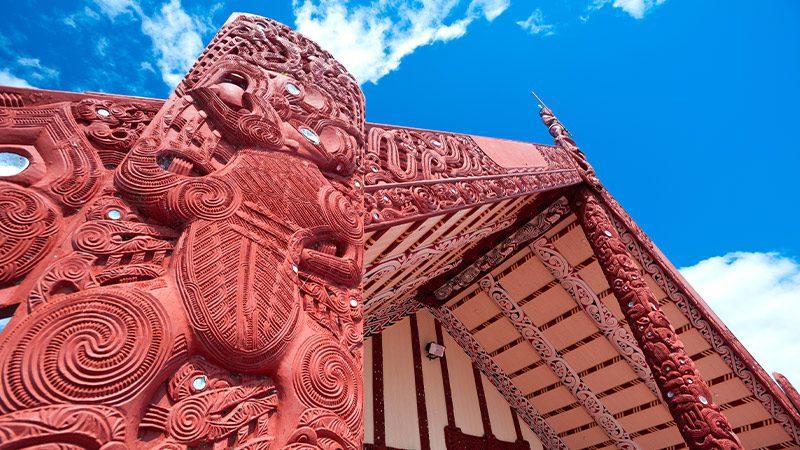 Māori monument on the North Island.