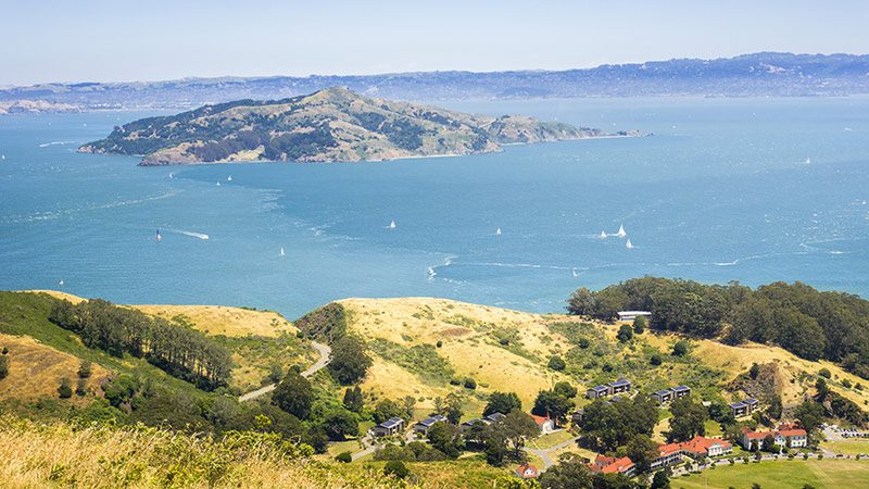 A view of Angel Island in San Francisco.