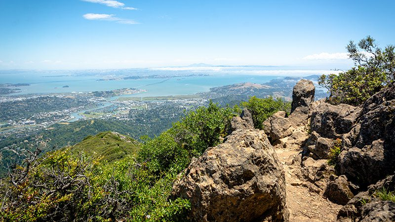 The view from the top of Mt. Tamalpais in San Francisco.