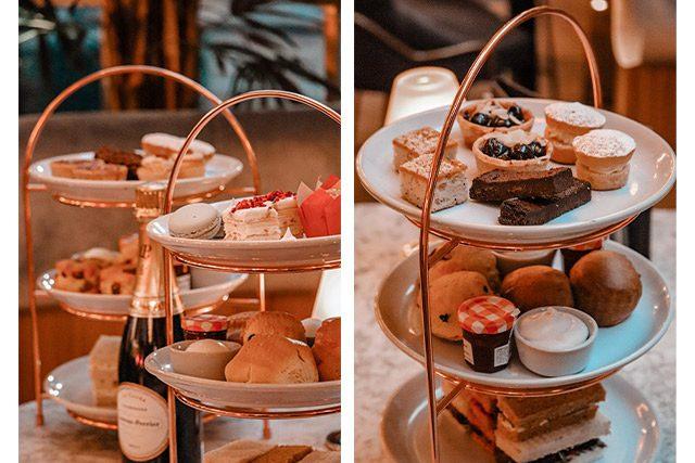 Champagne afternoon tea at Le Monde in Edinburgh