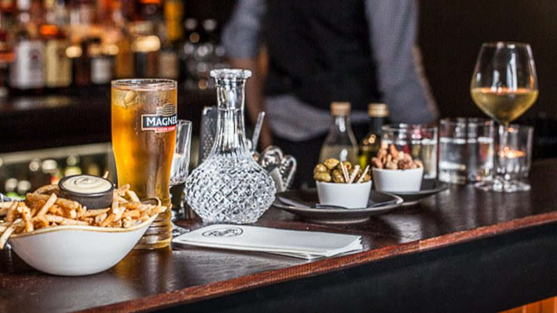 A collection of bar snacks and drinks at Boo Radley's in Christchurch.