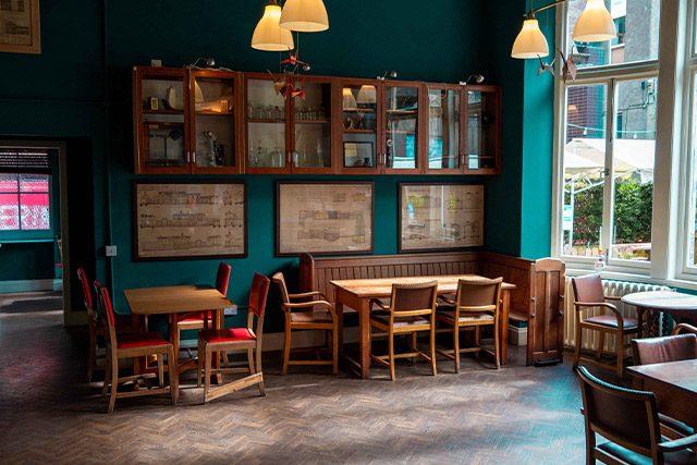 Inside the Royal Dick Bar in Edinburgh