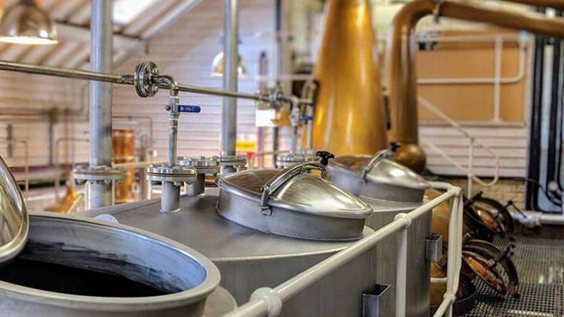 Inside the Cotswolds Distillery.