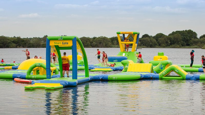 The 'Aquaventure' course at the Cotswold Country Park & Beach.