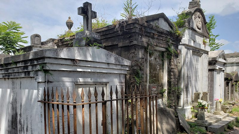 Crypts at Lafayette Cemetery in New Orleans.